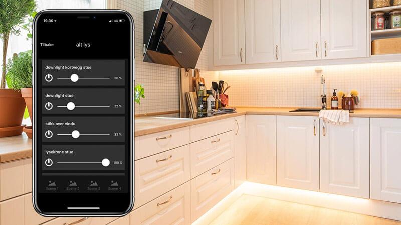Med smarthusløsninger kan du styre el-anlegget hjemme fra telefonen din!