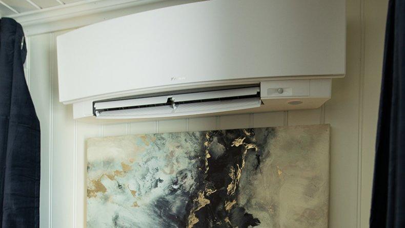 En kratig varmepumpe holder huset varmt selv midt på vinteren