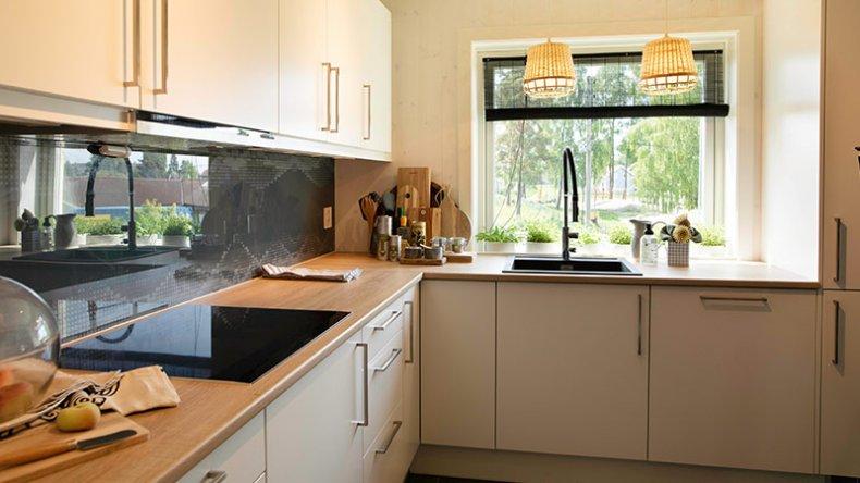Gammelt kjøkken ble erstattet med noe tipp topp moderne
