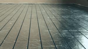milliclick varmefolie lagt på gulv