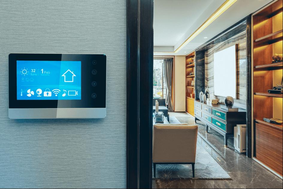trådløs bryter inne i et smarthus